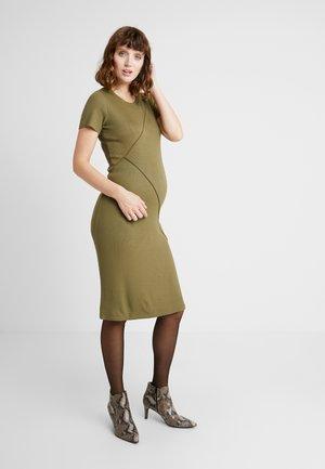 DRESS - Shift dress - burnt olive