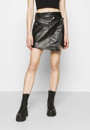RIDLEY BIKER SKIRT - A-line skirt - black