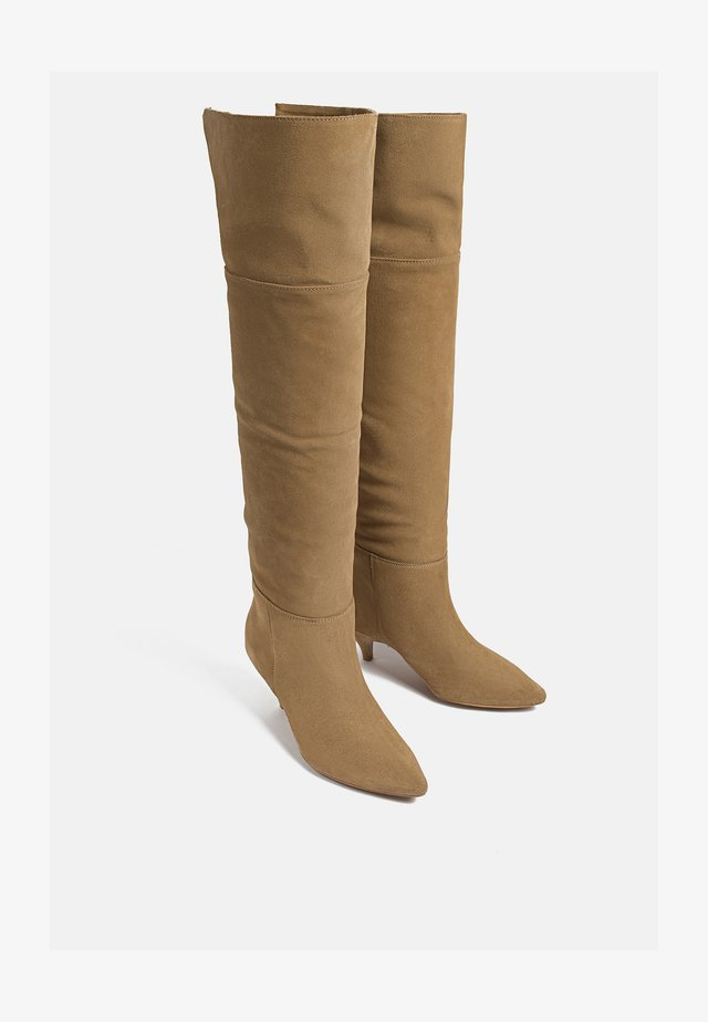 CROSS MY MIND - Over-the-knee boots - brown