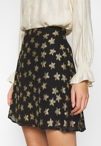 Fabienne Chapot - LOT SKIRT - Mini skirt - black/gold - 3