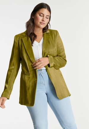 LONG SLEEVE - Short coat - avocado green
