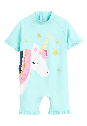 AQUA 3D UNICORN SUNSAFE SUIT (3MTHS-7YRS) - Swimsuit - green