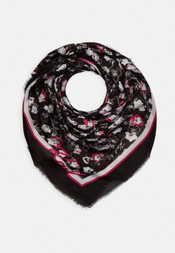 ALL OVER ORCHID SQUARE SCARF