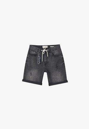 Jeansshort - mottled dark grey