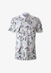TOM TAILOR DENIM - Polo shirt - white abstract flower print - 4