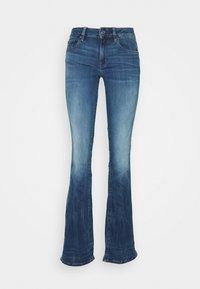 G-Star - 3301 MID BOOTLEG - Jeans bootcut - medium indigo - 3