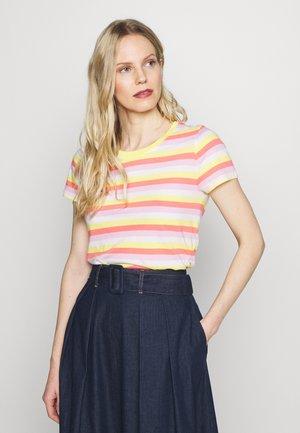 CREW - Print T-shirt - yellow/pink/multi strp