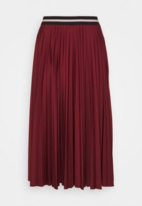 Esprit - PLEATED SKIRT - A-line skirt - bordeaux red - 0