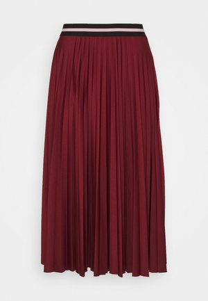 PLEATED SKIRT - A-Linien-Rock - bordeaux red