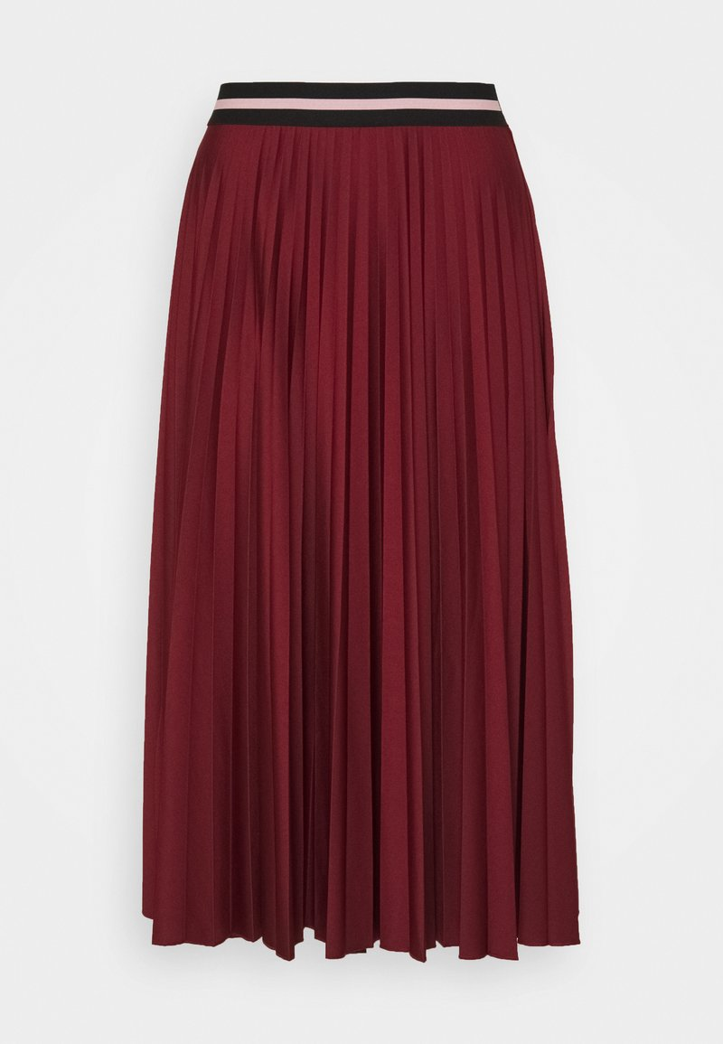 Esprit - PLEATED SKIRT - A-line skirt - bordeaux red