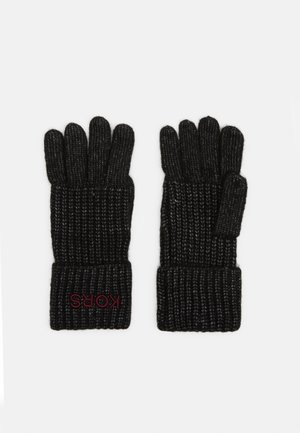 EMBROIDERD GLOVE - Fingerhandschuh - black