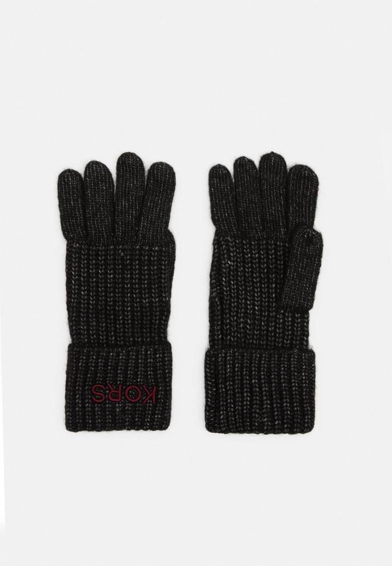 Michael Kors - EMBROIDERD GLOVE - Gloves - black