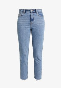 ONLEMILY RAW MAE - Straight leg jeans - light blue denim