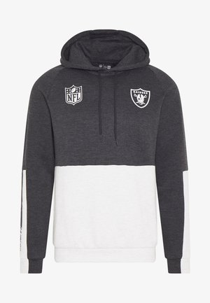 NFL COLOUR BLOCK HOODY OAKLAND RAIDERS - Equipación de clubes - grey