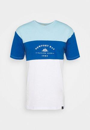 BLOCK - T-shirt med print - light blue/blue/white