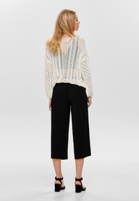 ONLY - ONLWINNER PALAZZO CULOTTE PANT - Trousers - black - 2