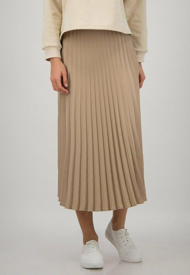 Pleated skirt - cuban sand