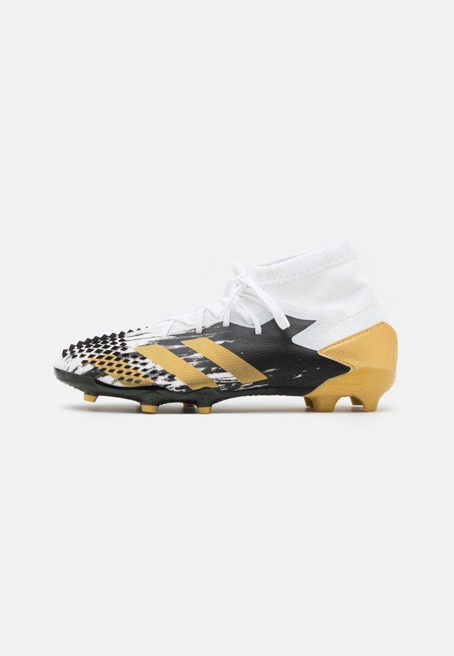 PREDATOR MUTATOR 20.1 FOOTBALL BOOTS FIRM GROUND UNISEX - Fotballsko - footwear white/gold metallic/core black
