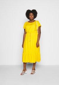 MY TRUE ME TOM TAILOR - DOBBY DRESS - Sukienka letnia - deep golden yellow - 1