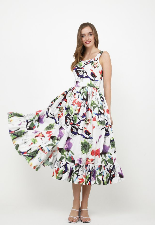 Robe d'été - weiß lila