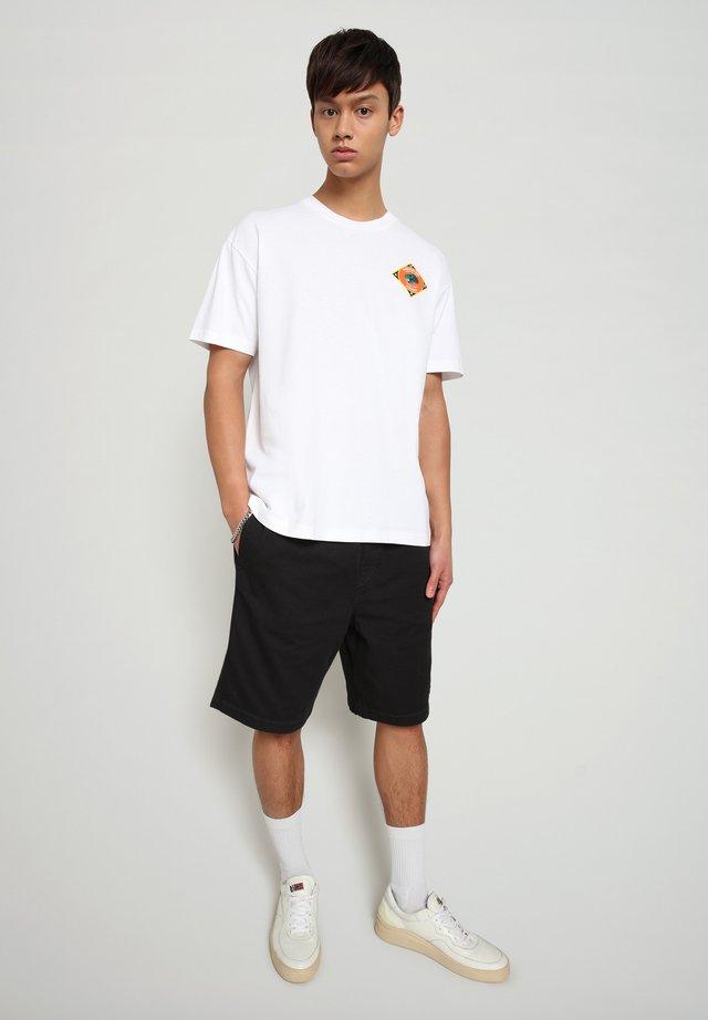 S-ALHOA - T-shirt med print - white graph l