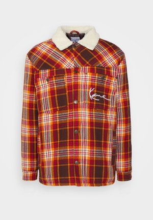 CHEST SIGNATURE JACKET UNISEX - Light jacket - dark red