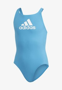 adidas Performance - BADGE OF SPORT SWIMSUIT - Swimsuit - blue - 0