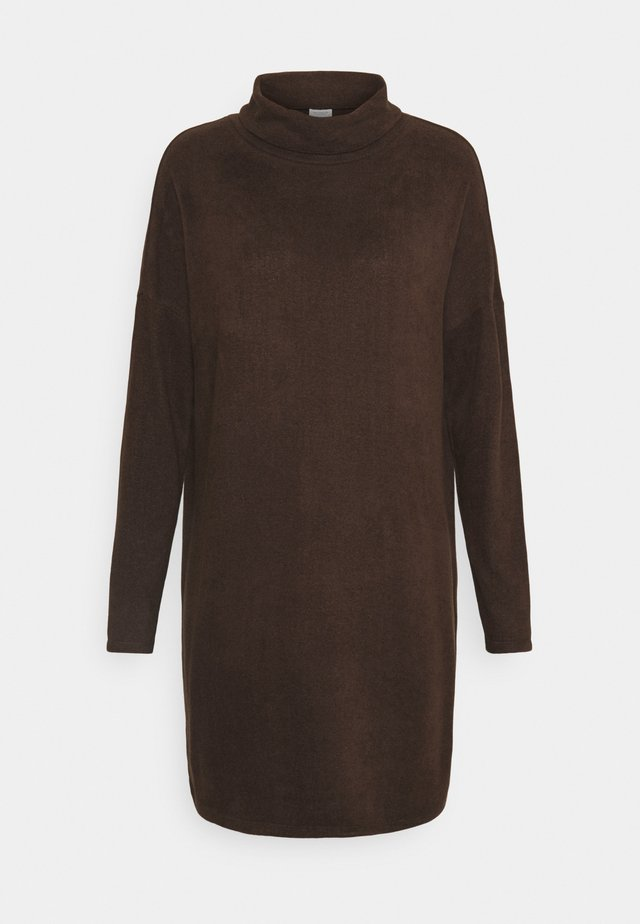 JDYSARA TONSY COWL NECK DRESS - Jumper dress - bracken