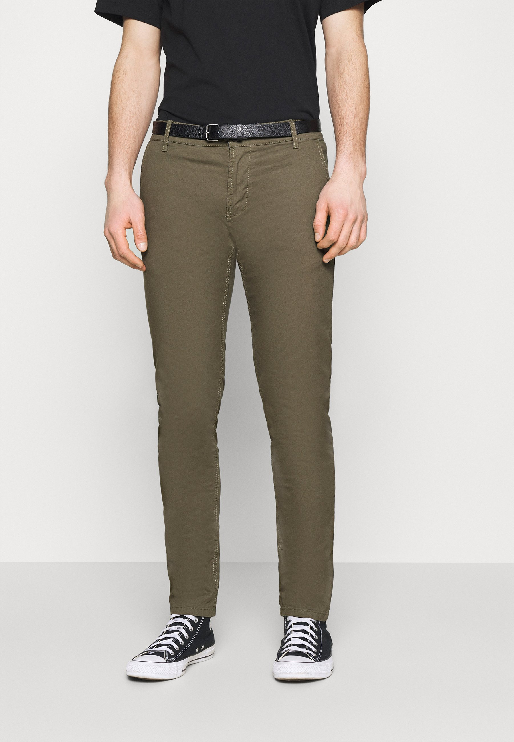 Homme MENS STRETCH WITH BELT - Chino