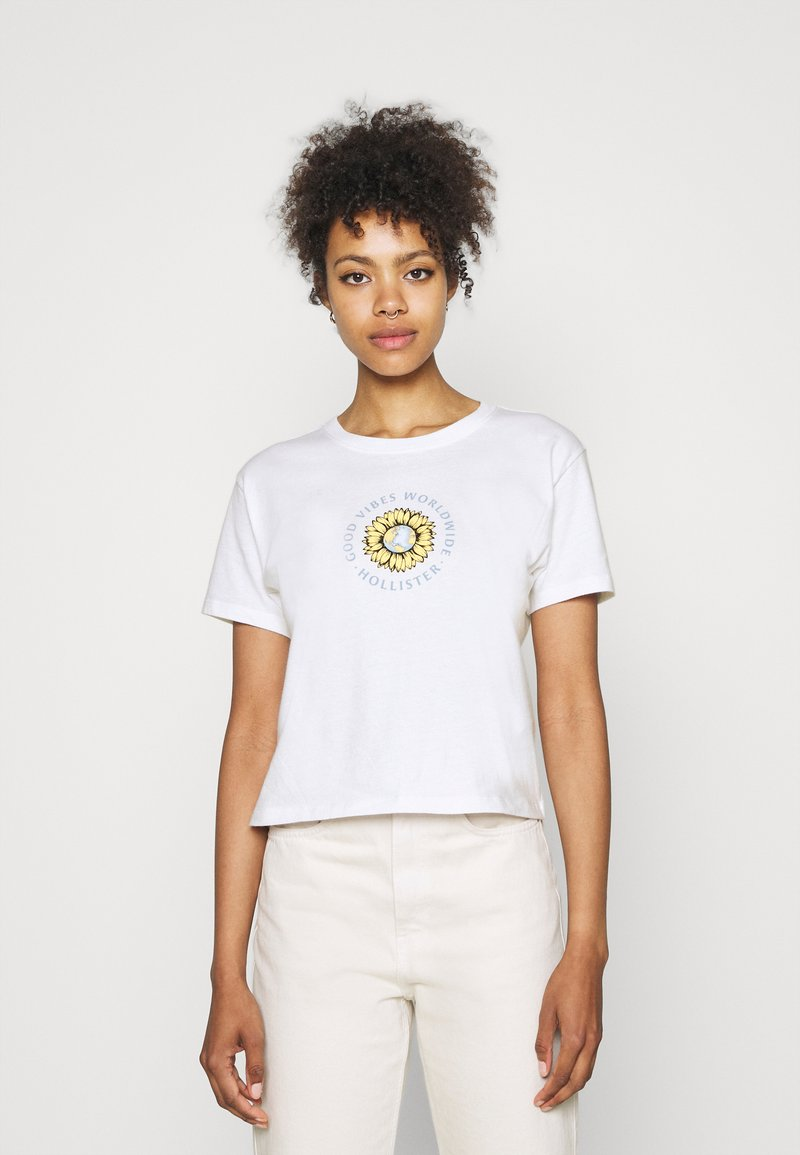 Hollister Co. - GRAPHIC EARTH DAY TEE - T-shirt z nadrukiem - white