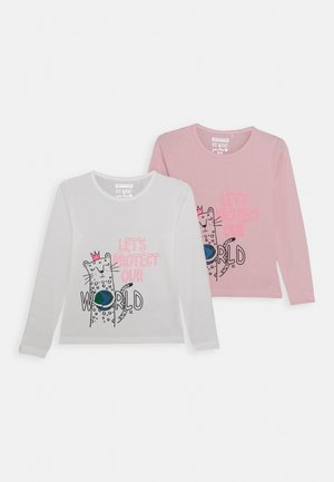 GIRLS LONGSLEEVE KID 2 PACK - Maglietta a manica lunga - white/light pink