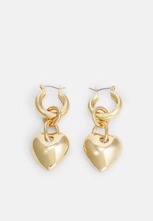 HERZ - Earrings - gold-coloured