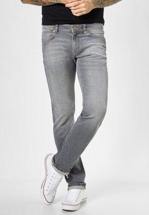 Straight leg jeans - dark grey heavy wash