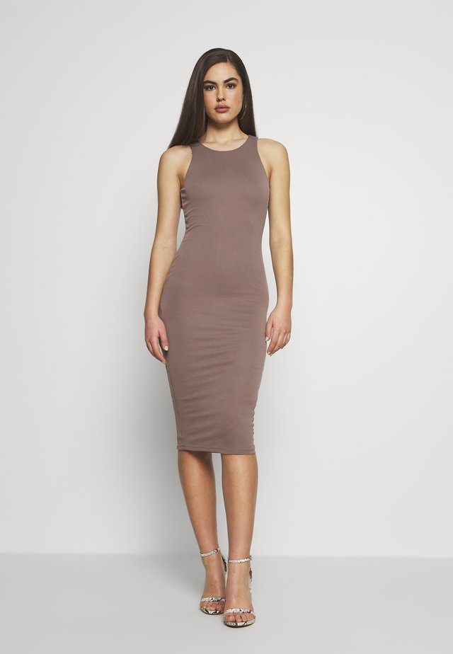 THE BODY SCULPTED MIDI DRESS - Tubino - latte