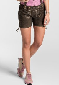 Spieth & Wensky - OLGA - Leather trousers - dunkelbraun - 5