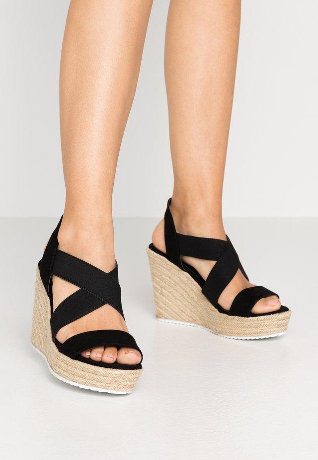ROSEWOD - Korolliset sandaalit - black