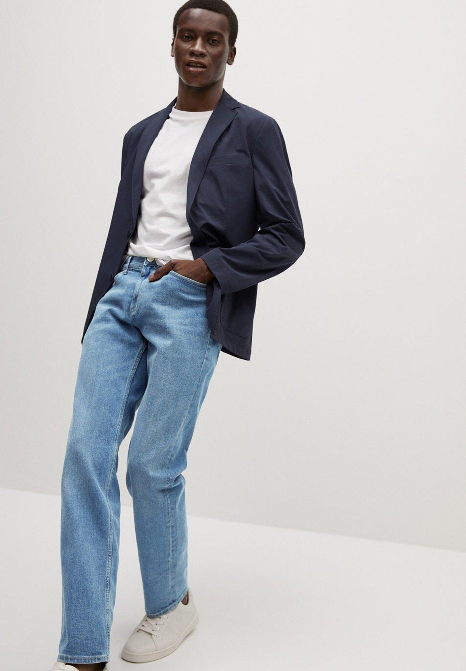 Mango Bob7 - Jeans Straight Leg Mellemblå