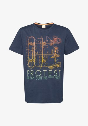 BOLTON JR  - T-shirt print - ground blue