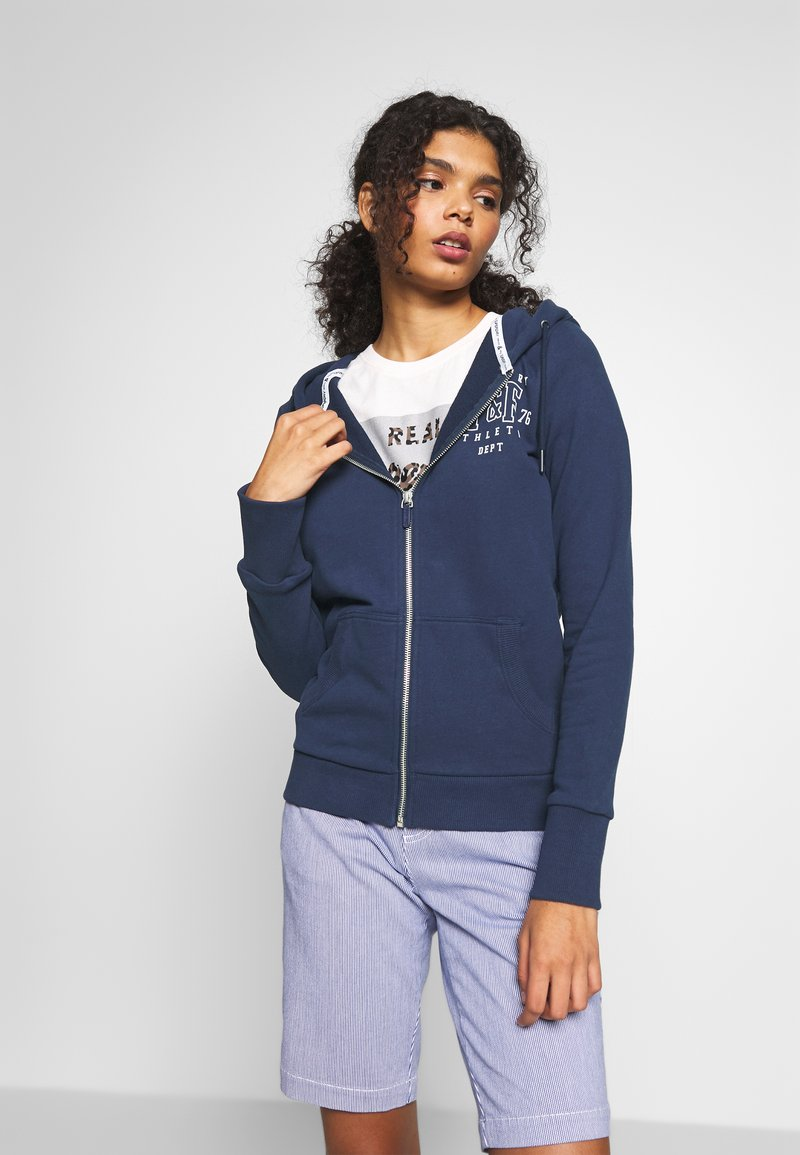Superdry - TRACK FIELD ZIPHOOD - Hettejakke - navy