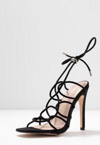 Public Desire - SAVY - Sandály na vysokém podpatku - black - 4