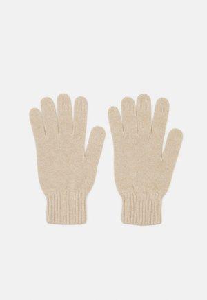 CASHMERE GLOVES UNISEX - Gloves - natural