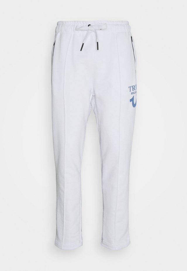 PANT HORSESHOE PUFFY  - Teplákové kalhoty - white