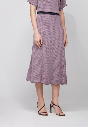 A-line skirt - dark blue/pink