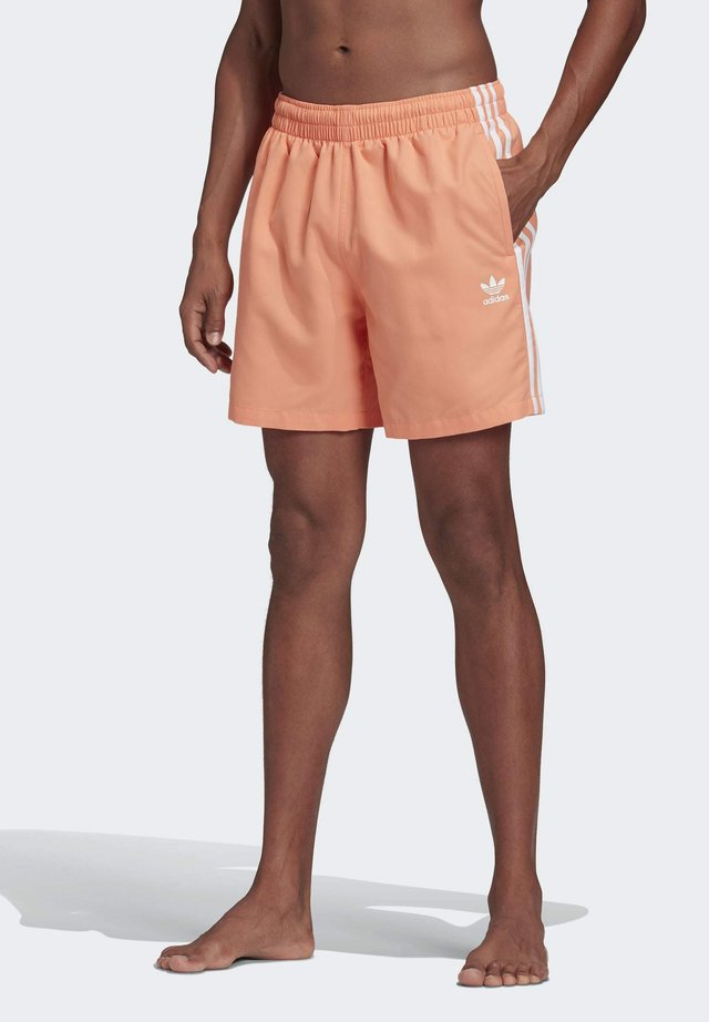 3-STRIPES SWIM SHORTS - Badeshorts - orange