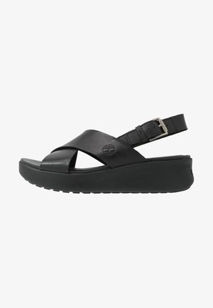 LOS ANGELES WIND SLINGBAC - Platåsandaletter - black