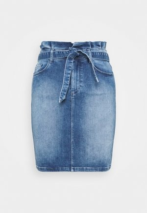 ONLHUSH LIFE MID  - Pouzdrová sukně - medium blue denim