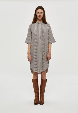 RAMIS - Shirt dress - blue brown stripe