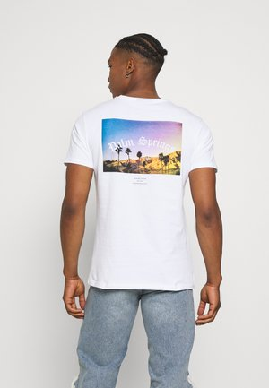 SUMMER PALM TEE - T-shirt con stampa - white