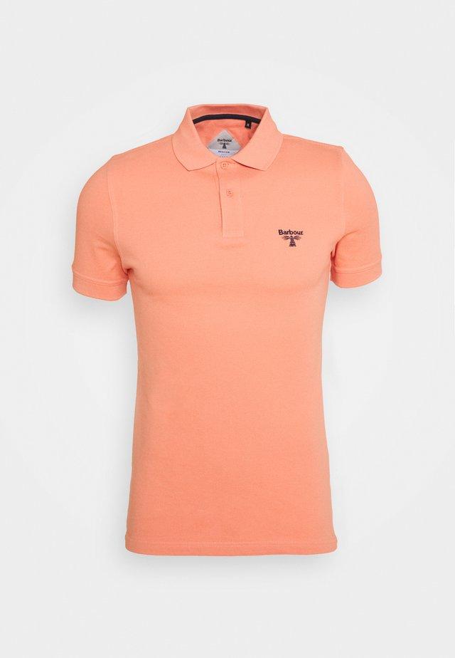 Polo shirt - burnt coral