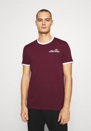 MEDUNO RINGER - Print T-shirt - burgundy